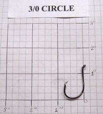 100 3/0 Circle Octopus Fishing Hooks black nickel wholesale / bulk fishing hooks