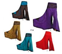 Nepal Wide Leg 100% Stone washed Cotton Stretchy Knit Trouser Zip waist Pants