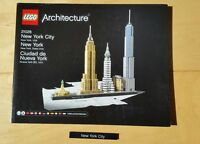 REDUCED INSTRUCTIONS & NAME TILE only - New York City  Lego Architecture 21028