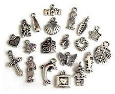 20 Breloques _ LOT MIX DIVERS arg. de 11 à 21 mm _ Perles charms création bijoux