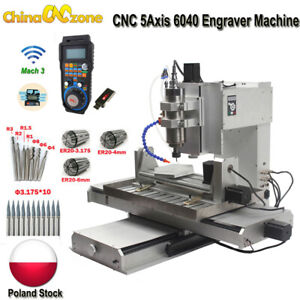 CNC 2200W 5-Achsen 6040 Graviermaschine Mach3 USB-Fräser Schneidemaschine Polen