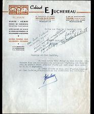 """SELLES-sur-CHER (41) VENTE de COMMERCES de BOULANGERIES """"Cabinet JUCHEREAU"""" 1958"""