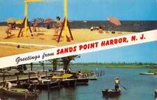 Sands Point Harbor New Jersey Recreation Multiview Vintage Postcard K73031