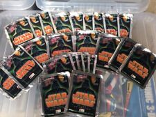 22 packs of vintage 1997 merlin star wars trilogy sealed card packs