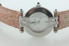Corum 18K White Gold & Diamond Bezel Numeral Quartz MOP Dial Ladies Wristwatch