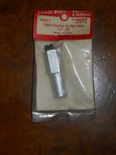 DUMAS #2915 ENGINE COUPLING FOR FLEX CABLE 1/4-28 (NEW OLD STOCK IN PACKAGE)