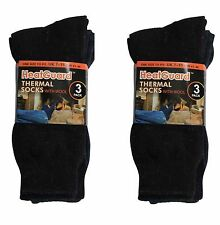 Heatguard 6 pack of Thermal Wool Blend Warm Socks One Size  UK 7-11 Eur 41-46