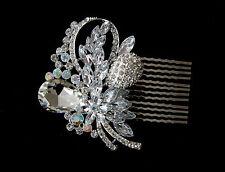 DIAMANTE CRYSTAL SLIDE HAIR SIDE COMB FASCINATOR *BRIDAL/WEDDING/PROM* (F)