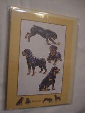 CARTE + ENVELOPPE - chien   ROTTWEILER