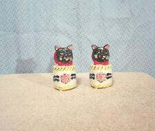 Vintage Cat Head Novelty Salt & Pepper Shakers