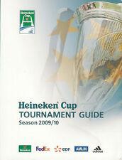 HEINEKEN EUROPEAN CUP 2009/10 RUGBY MEDIA GUIDE BOOKLET