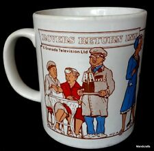 Coffee Mug Coronation Street Then & Now UK TV Soap 1988 8oz Kiln Craft Vtg