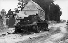 WW2 Photo Destroyed British Tank France 44 WWII Germany  World War Two Normandy