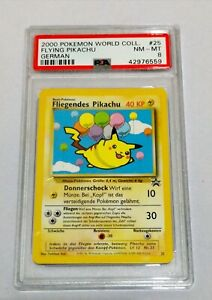 PSA 8 NM-MT 2000 Pokemon World Collection FLYING PIKACHU (GER) Promo Card #25