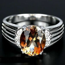 Topaz Topaz Solitaire with Accents Fine Rings