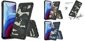 For Motorola Moto G Power XT2117 (2021) Camo Tough Hybrid Case Phone Cover