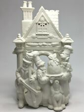Partylite Bakery Carolers Bisque Christmas Cello Player Tealight Candle Holder