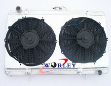3 ROW 52MM Aluminum Radiator & Shroud &Fans for Nissan Silvia S13 SR20DET Manual