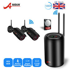 ANRAN Wireless Security Camera System 4CH 1080P 1TB WiFi NVR CCTV Kit Waterproof