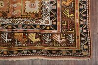 Vegetable Dye Pre-1900 Geometric Antique 4x6 Oushak Turkish Oriental Area Rug