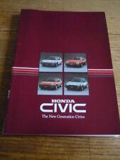 HONDA CIVIC BROCHURE 1984