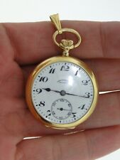 RARE SOLID 18KT GOLD ANTIQUE CHRONOMETER MOVADO GRAND PRIX 1910 POCKET WATCH