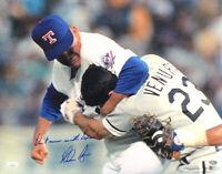 Nolan Ryan Signed Rangers 16x20 Photo Don't Mess With Texas Insc JSA+Ryan Holo