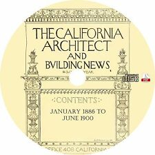 The California Architect and Building News {1886-1900} Magazine on CD