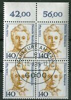 Bund Nr. 1432 OR Viererblock Frauen gestempelt EST Vollstempel Frankfurt VB BRD