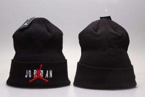 New Jordan Jumpman Winter Warm Knit Beanie Adult Unisex Hat New Style - Black