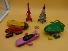 Bandai Thunderbirds 1, 2, 3, Fab 1 & Mole Complete w/ all 5 Vehicles & Boxes