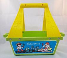 """Fisher Price 112 Flower Box Garden Tote Basket 10"""" 1981"""