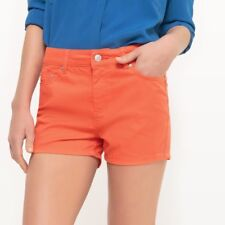 LA REDOUTE LADIES MINI SHORTS ORANGE SIZE 8 NEW (ref 418)