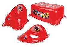 Cars Vasino Training Toilette antiscivolo Vasino Sedile Del Water Passo Sgabello 3pcs Set Rosso