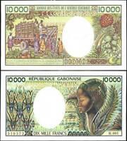 GABON 10000 10,000 FRANCS P 7 a P 7 AUNC SEE SCAN