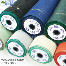 Universal 90% Shade Cloth 6' 1.83m x 30m BLACK KNITTED SHADECLOTH MESH ROLLS