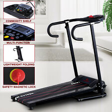 1100W Folding Treadmill Electric Motorized Running Gym Machine With Twist Plate