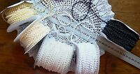 String of Pearls 4mm thick 3,5,10&20 Metres WHITE IVORY CREAM & BLACK Choice V10