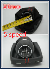 23mm 5 Speed Gear Leather Shift knob cover for Audi A3 8L (2000-2003) with frame