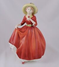 """Royal Doulton Figurine A Single Red Rose HN 3376 Lady holding red rose 8"""""""