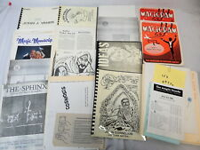 Magicians Lecture Notes Catalogs Magazines Zerox Originals Large Collection