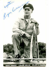 Boat Captain Roger-Pilot-Guide-Dells-Wisconsin-RPPC-Vintage Real Photo Postcard
