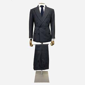 Thom Sweeney Bespoke, Pinstripe Suit. Size 36 UK, 46 EU