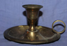 Vintage Brass Candle Holder With Tray