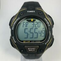 Timex Ironman Mens Black Triathlon Indiglo Multifunction Easy to Read Wristwatch