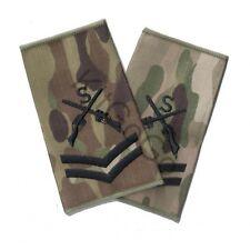 British Army MTP Sniper Rank Slides, Black, Corporal, Pair NEW