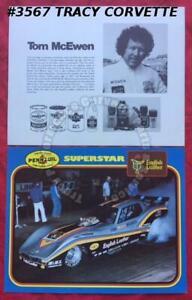 1977 Vintage Drag Racing NHRA Superstar Tom McEwen Mongoose Pennzoil Handout