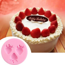 Strawberry Silicone Fondant Cake Decorating Chocolate Baking Sugarcraft Mould