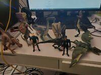 jurassic park vintage action figure dinosaur lot of 9 jw jp jp3 sound effects
