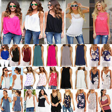 Fashion Women's Summer Sleeveless Vest Blouse Casual Tank Tops T-Shirt Camisole